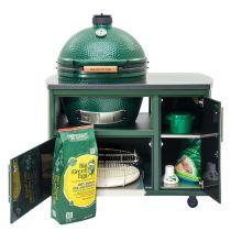 Big Green EGG NEW! 49 in Custom Cooking Island LARGE EGG BGE-121257