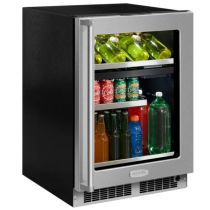"""Marvel Professional 24"""" Dual Zone Wine and Beverage Center"""