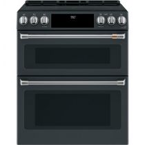 """Café™ 30"""" Slide-In Front Control Induction and Convection Double Oven Range"""
