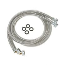 Washing Machine Universal 6' stainless steel hoses with 90° Elbow – 2 hose package
