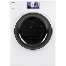 """Haier 4.3 cu.ft. Capacity Smart 24"""" Frontload Electric Dryer with Stainless Steel Basket QFD15ESSNWW"""