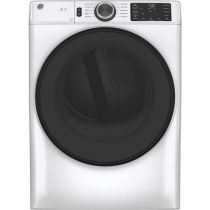 GE® 7.8 cu. ft. Capacity Smart Front Load Electric Dryer with Sanitize Cycle GFD55ESSNWW