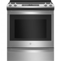 """GE® 30"""" Slide-In Electric Convection Range With No Preheat Air Fry JS760SPSS"""