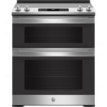 """GE® 30"""" Slide-In Electric Convection Double Oven Range JSS86SPSS"""