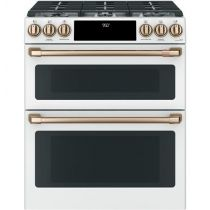 """Café™ 30"""" Slide-In Front Control Dual-Fuel Double Oven with Convection Range"""