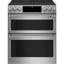 """Café™ 30"""" Slide-In Front Control Radiant and Convection Double Oven Range"""