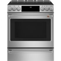 """Café™ 30"""" Slide-In Front Control Induction and Convection Range with Warming Drawer"""