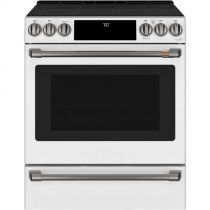 "Café™ 30"" Slide-In Front Control Radiant and Convection Range with Warming Drawer CES700P4MW2"