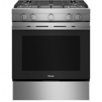 """Haier 30"""" Smart Slide-In Gas Range with Convection QGSS740RNSS"""