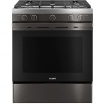 """Haier 30"""" Smart Slide-In Gas Range with Convection QGSS740BNTS"""