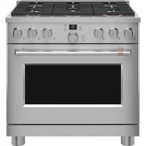"Café™ 36"" Smart Dual-Fuel Commercial-Style Range with 6 Burners (Natural Gas) C2Y366P2TS1"