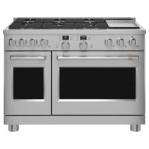"""Café™ 48"""" Smart Dual-Fuel Commercial-Style Range with 6 Burners and Griddle (Natural Gas) C2Y486P2TS1"""