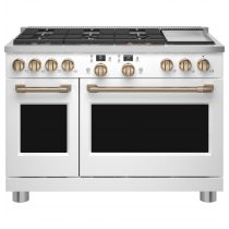 "Café™ 48"" Smart Dual-Fuel Commercial-Style Range with 6 Burners and Griddle (Natural Gas) C2Y486P4TW2"