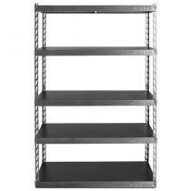 """Gladiator® 48"""" Wide EZ Connect Rack with Five 18"""" Deep Shelves"""