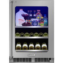 "Marvel 24"" Beverage Center with Display Wine Rack"