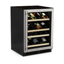 "Marvel 24"" High Efficiency Gallery Single Zone Wine Cellar"