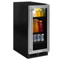 "Marvel 15"" Beverage Center Glass Door/Stainless or Black Trim"