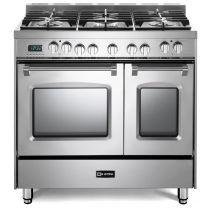 """Verona 36"""" Prestige Dual Fuel Double Oven Range VPFSGE365DSS"""