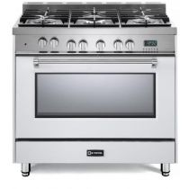 "Verona 36"" Dual Fuel Single Oven Range - Prestige Series VPFSGE365W"