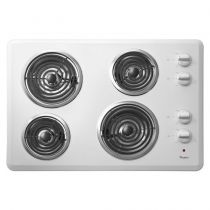 """Whirlpool® 30"""" Electric Cooktop with Dishwasher-Safe Knobs"""