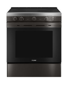 "Haier 30"" Smart Slide-In Electric Range with Convection QSS740BNTS"